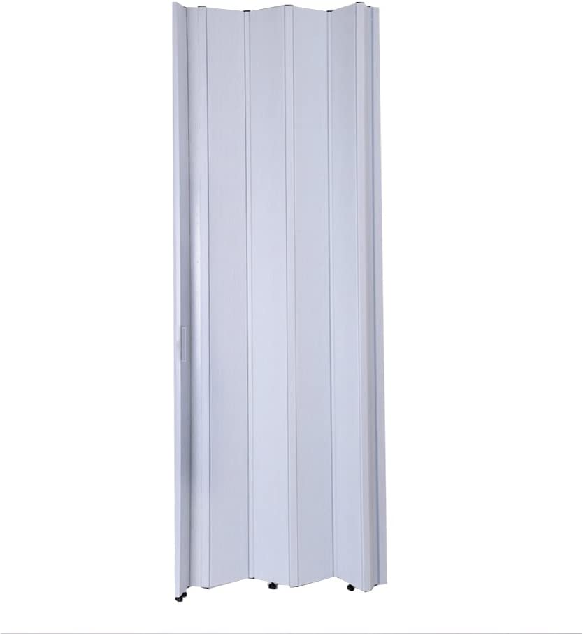 Britoniture PVC Plastic Folding Door Accordion Lockable Gloss Thickness 12mm Brown White