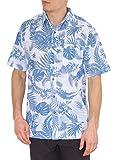 Nob Hill Hawaiian Shirt for Mens Button Down Short Sleeve Big Mens Shirts Blue Palms 2XL