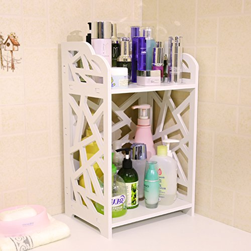 70%OFF Bathroom double rack/Cosmetic skin care products incorporated finishing shelf/desktop corner flower stand/shelf -B