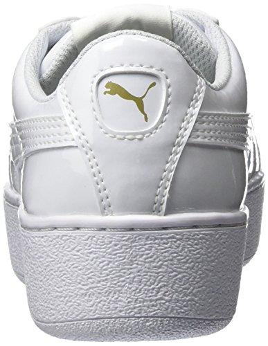 Vikky Puma White de Ribbon Adulto Zapatillas Blanco Unisex Deporte drCqrwx