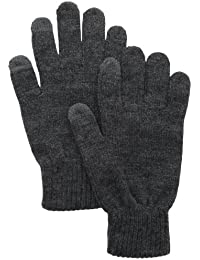 Men's Solid Knit Shima Glove with Touchscreen Capability