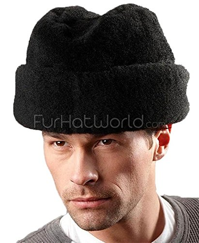 Frr Black Mouton Sheepskin Russian cossack Hat - - Men's Ambassador Hat