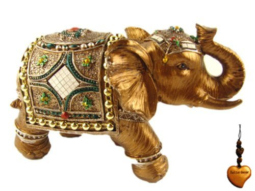 Betterdecor Feng Shui Trunk up Lucky Elephant Statue for Good Fortune-4
