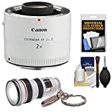 Canon EF 2x Extender III Lens Teleconverter with LED Flashlight + Screen Protectors + Kit