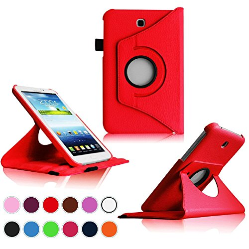 Samsung Galaxy Tab 3 7.0 Case,Flying Horse Tablet Case Cover SM-T210R/SM-T210R/7-Inch P3200(Luxury 360 Rotating PU Leather/Smart Cover Wake/Sleep (Tablet 3 Samsung Case)