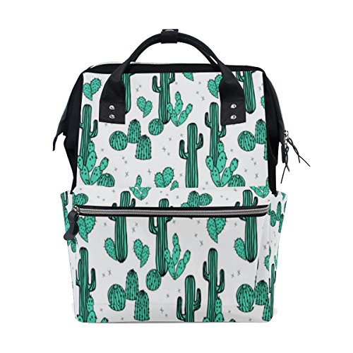 Diaper Bags Backpack Mummy Backpack with Parede Cactus Print Travel Laptop Daypack by THENAGD