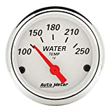 "Auto Meter 1337 Arctic White 2-1/16"" Short Sweep Electric Water Temperature Gauge"