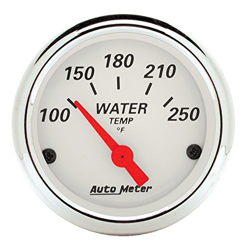 Auto Meter 1337 Arctic White Water Temperature Gauge (Gauge Fluid Temperature)