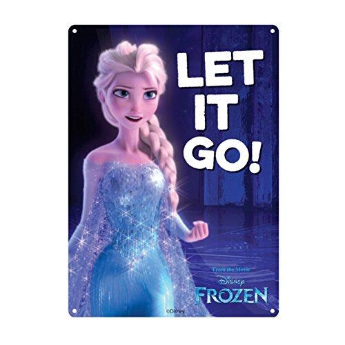 Genuine Disney Frozen Elsa Let It Go Small A5 Steel Sign Tin Wall Door - Woody Sign Tin