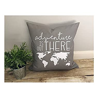 Yohoba Adventure Is Out There Pillow Cover, Adventure Lover Gift, World Map Pillowcase, Rustic Decor, Love Pillow Cover, Simple Chic, Disney'S Up Quote, Inspirational, Christmas Gift