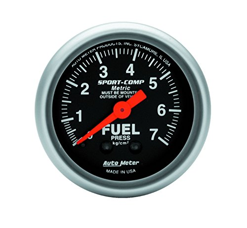 - Auto Meter 3312-J Sport-Comp Mechanical Metric Fuel Pressure Gauge