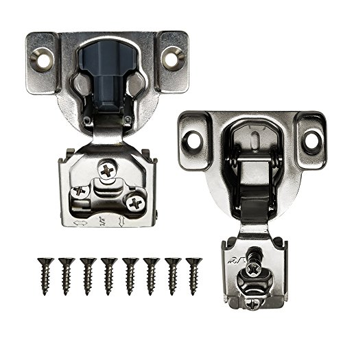 """Boshen Cabinet Cupboard Concealed Inset Hinges for Doors Overlay Self Closing Hinges Face Frame hinge 1/2 Soft Close 2 20 50 Pack with Screw (1/2"""" With Damper(50PCS)) by Boshen (Image #1)"""