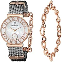 Charriol St Tropez Mother of Pearl Dial Chevron Cable Women's Watch