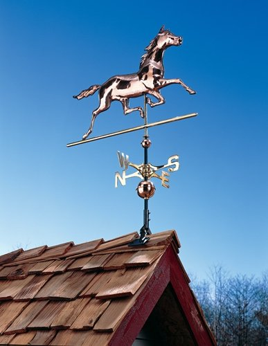 Whitehall Products Copper Horse Weathervane, Polished