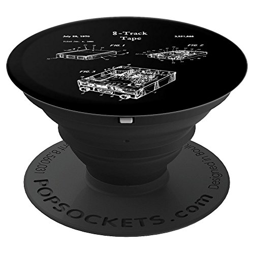 Eight Track Vintage 8-Track Tape Player - PopSockets Grip and Stand for Phones and Tablets