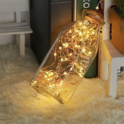 Fairy Lights Solar Powered, Goodia 120 LEDs Copper Wire Decorative String Lights Indoor Outdoor Waterproof Ambiance Lighting for DIY Wedding, Party, Table Decorations