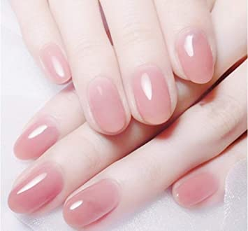 Uñas Postizas,Natural Francés Nails,24Pcs Uñas Postizas De Color ...