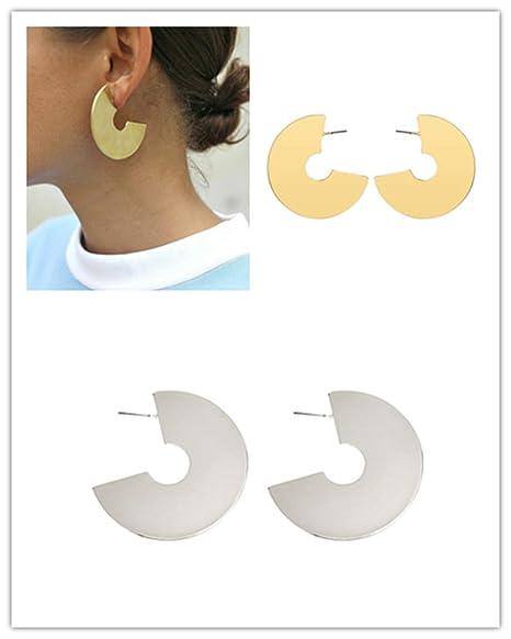Voberry - Pendientes minimalistas geométricos para mujer ...