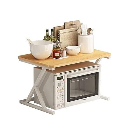 DUDDP cocina estanterías Microondas horno de carro de cocina ...