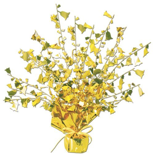 Anniversary Gleam 'N Burst Centerpiece (gold) Party Accessory  (1 count) (1/Pkg)