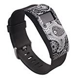 ABC® Luxury Slim Designer Sleeve Case Band Cover for Fitbit Charge / Charge HR (Black)