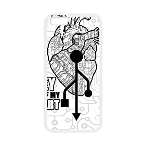 iPhone 6 Plus 5.5 Inch Cell Phone Case White KEY OF MY HEART LSO7740269