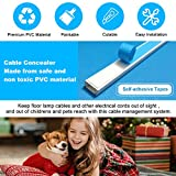 CAMITLLI Cord Hider Cable Concealer, 142in TV Wall