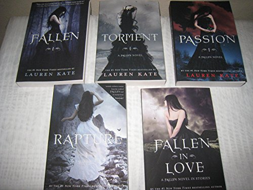 5 Book Set of Lauren Kate's Fallen Series (Fallen, Torment, Passion, Rapture, Fallen in Love) (Lauren Kate Fallen In Love)
