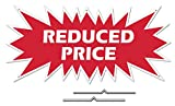 """REDUCED PRICE Starburst Sign Rider - Red Real Estate Corrugated Sign Kit INCLUDES 2 - 8"""" D-Wire Stakes"""