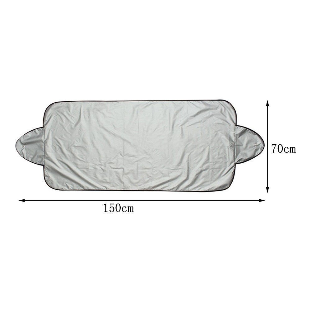 Staron Snow Cover Windshield for Car, Protect You Car - Windshield Cover Cars Snow Ice Protector Visor Sun Shade Front Rear Car Cover Block Shields (150x70cm) by Staron  (Image #4)