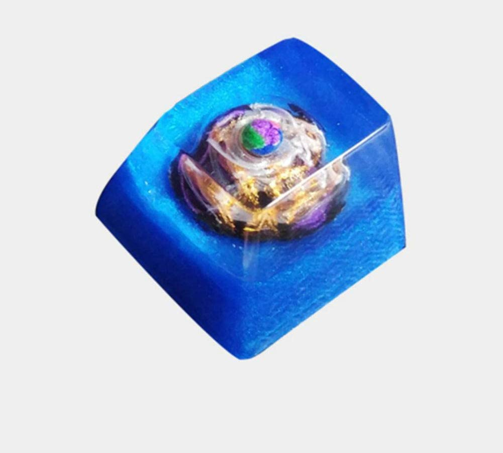 Mugen Custom Pandora's Planet Nature Resin Keycaps for Cherry MX Switches - Fits Most Mechanical Gaming Keyboards - with Keycap Puller