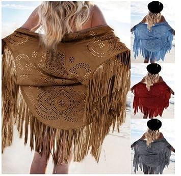 PJJ/ Chaqueta/flecos de las mujeres del mantón , light gray , l: Amazon.es: Deportes y aire libre