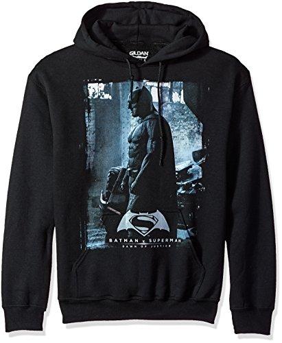 Trevco Men's Batman Vs. Superman Bat Poster Hoodie Sweatshirt at Gotham City Store