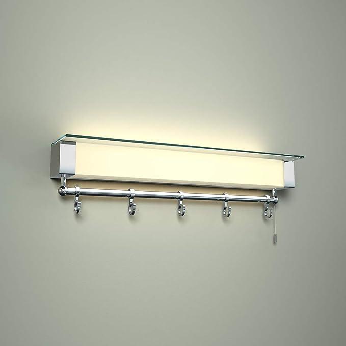 Milano Tanana LED Baño Repisa/Porta toallas con Luz y Enchufe ...