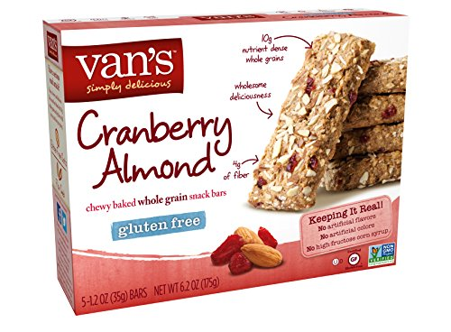 Van's Simply Delicious Gluten-Free Snack Bars, Cranberry Almond, 5 Count - Bar Cranberry Almond