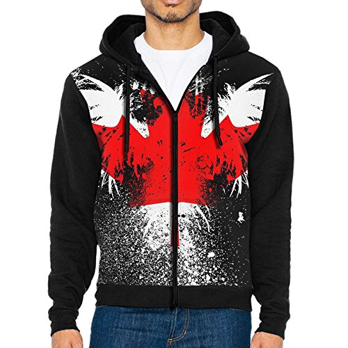 Men American Eagle Canadian Flag Funky Hoodies Sports Sweatshirts