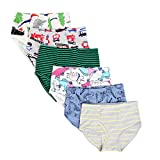 Closecret Kids Series Soft Cotton Underwear Little Boys' Assorted Briefs(Pack of 6) (Style2, 3-4 Years)