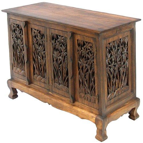 Exp 39-Inch Handmade Bamboo Forest Storage Cabinet/Sideboard Buffet, Dark Brown