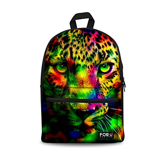 - FOR U DESIGNS Cute Camo Leopard Backpack Canvas School Bag Pack for Teens