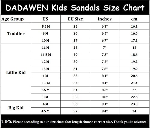 Pictures of DADAWEN Girl's Boy's Summer Leather White 1 M US Little Kid 2