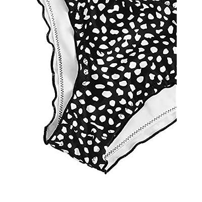 SweatyRocks Women's Bathing Suits Spaghetti Strap Ruffle Wrap Bikini Set Two Piece Swimsuits: Clothing