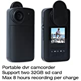 Conbrov® HD90 HD Mini DV Camcorder Hidden Camera Portable Body Cam Video Recorder with LCD Time Lapse Password Protection Built-in 1600mAh Battery for Max 8 Hours Recording Per Charge