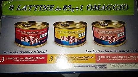 Morando mejor gato comida húmedo Gatos Multipack 9 latas 3 Sabores ...