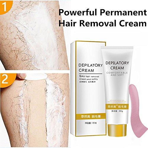 ZeHui Unisex Safe Painless Depilatory Cream Fast Depilatory Hair Removal Cream for Body Leg Armpit