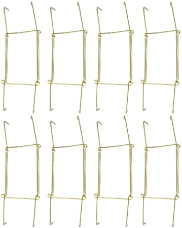 2 Pcs uxcell/® Plate Hanger 10-inch W Type Zinc Plated Invisible Wall Decorative Hooks
