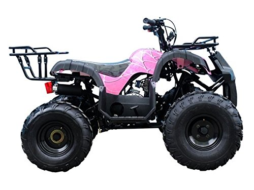 Brand New Youth Size ATV with 110cc engine and  Big Rugged Wheels with REVERSE ( Pretty Pink Spider ()