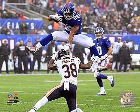 brand new 0743c 80f25 Amazon.com: Saquon Barkley New York Giants 2018 Action Photo ...