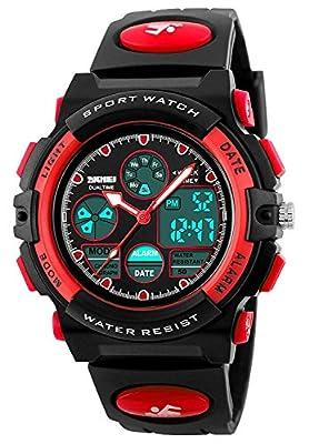 Kid Watch 50M Waterproof Sport LED Alarm Stopwatch Digital Child Quartz Wristwatch for Boy Girl from cofuo
