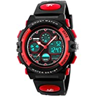 Kid Watch 50M Waterproof Sport LED Alarm Stopwatch Digital Child Quartz Wristwatch for Boy