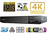 SONY BDP-S6700 2k/4k Upscaling - Bluetooth- 2D/3D - Wi-Fi - Multi System Region Free Blu Ray Disc DVD Player 100-240V from Sony
